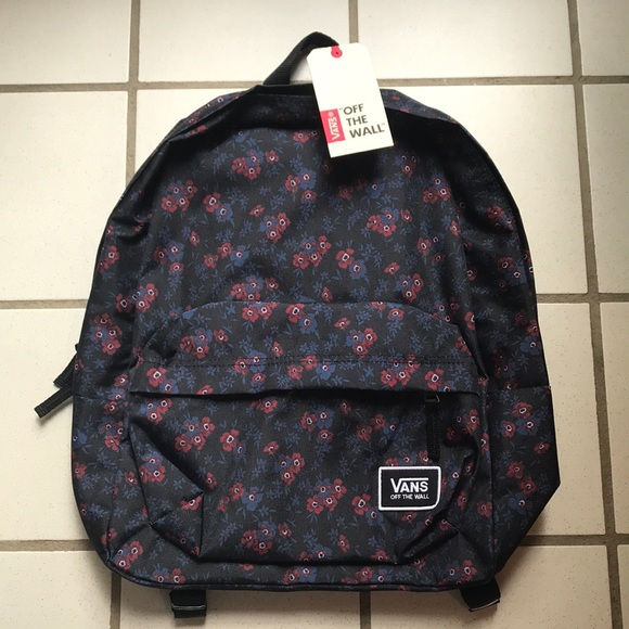 fe57173fb586d2 NWT Vans Realm Floral Backpack